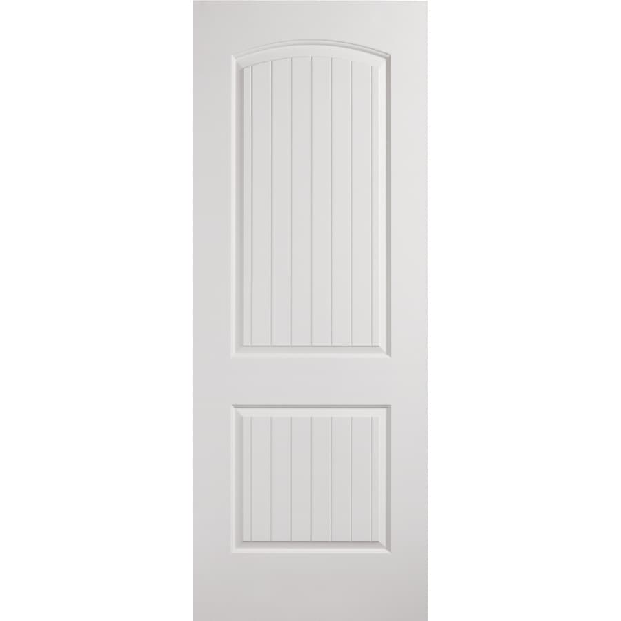 Shop reliabilt 2 panel 2 panel round top plank slab interior door common 32 in x 80 in actual - Hollow core interior doors lowes ...