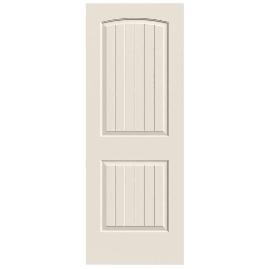 JELD-WEN (Primed) Solid Core 2-Panel Round Top Plank Slab Interior Door (Common: 24-in x 80-in; Actual: 24-in x 80-in)
