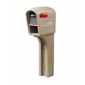 Step 2 MailMaster 12.5-in W x 51-in H Plastic Stone Gray Post Mount Mailbox