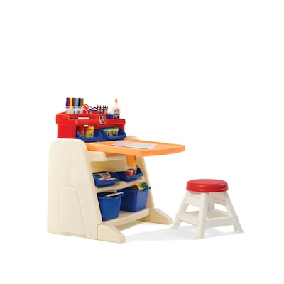 Miraculous Step2 Flip And Doodle Easel Desk With Stool At Lowes Com Caraccident5 Cool Chair Designs And Ideas Caraccident5Info