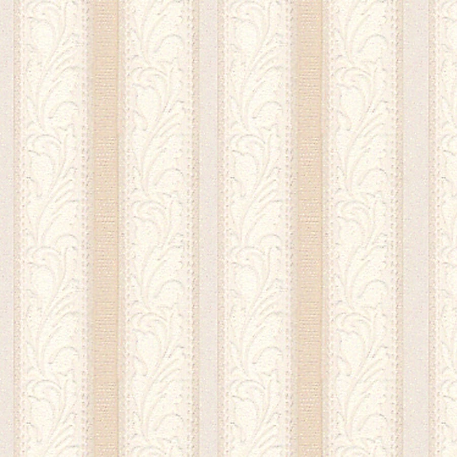 Style Selections Beige Textured Floral Stripe Wallpaper At