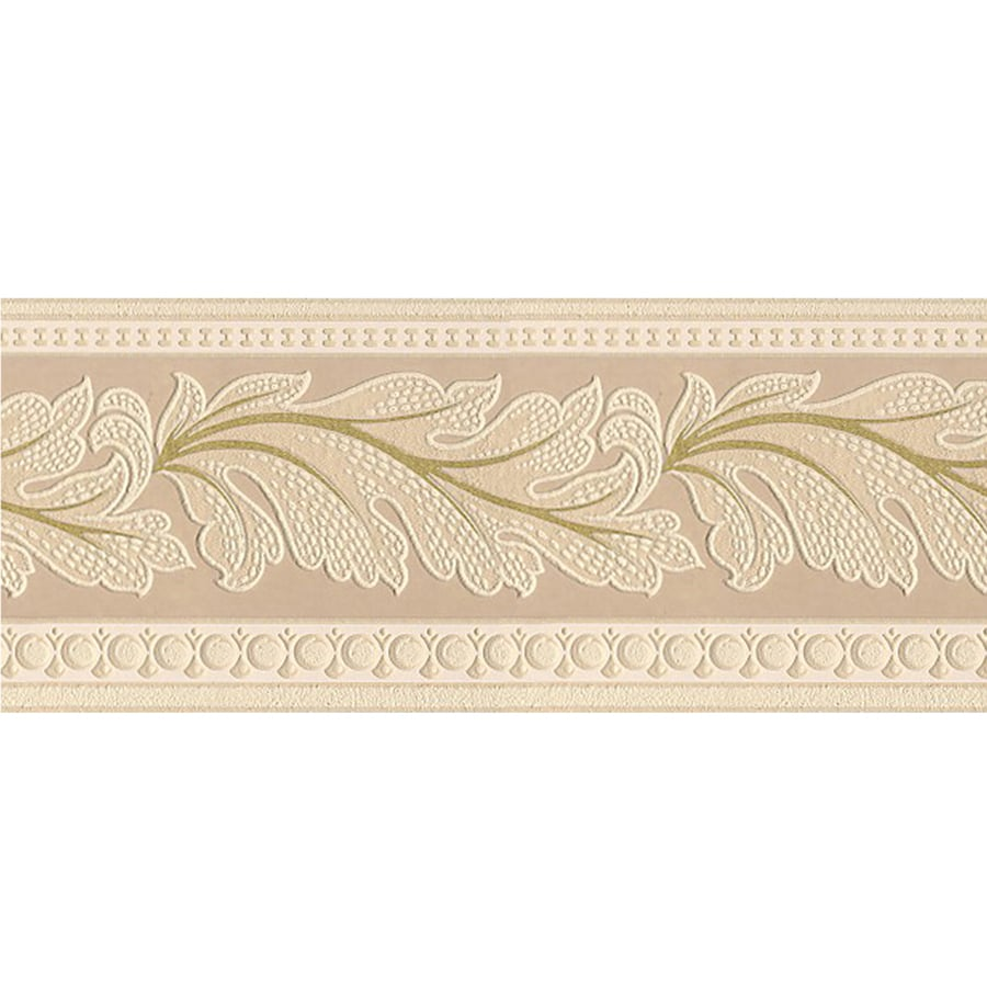 Style selections 5 in beige prepasted wallpaper border