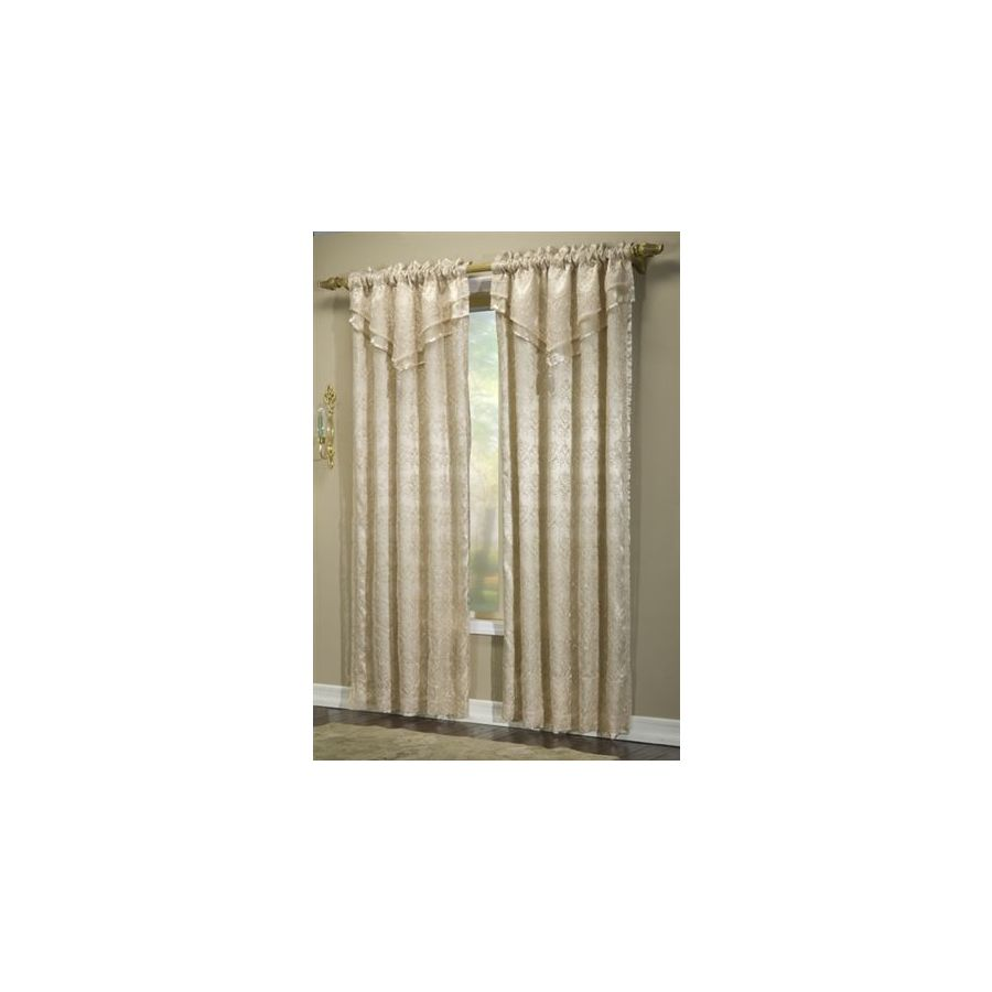 Style Selections Suzano 84-in L Taupe Rod Pocket Curtain Panel