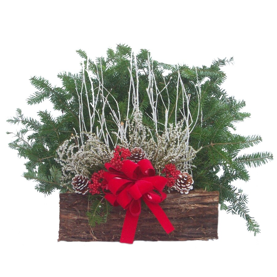 Fresh Christmas Decorative Greenery Basket