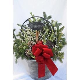 12 fresh christmas decorative greenery basket