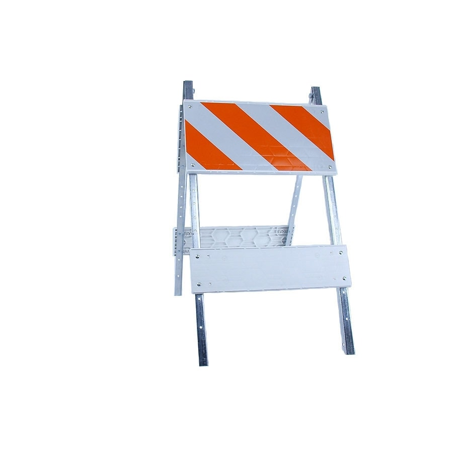 Three D Traffic Works Type I Plastic/Galvanized Steel Barricade