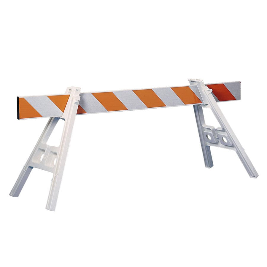 Three D Traffic Works 42-in Plastic A-Frame Barrier Legs and 72-in Barrier Rail