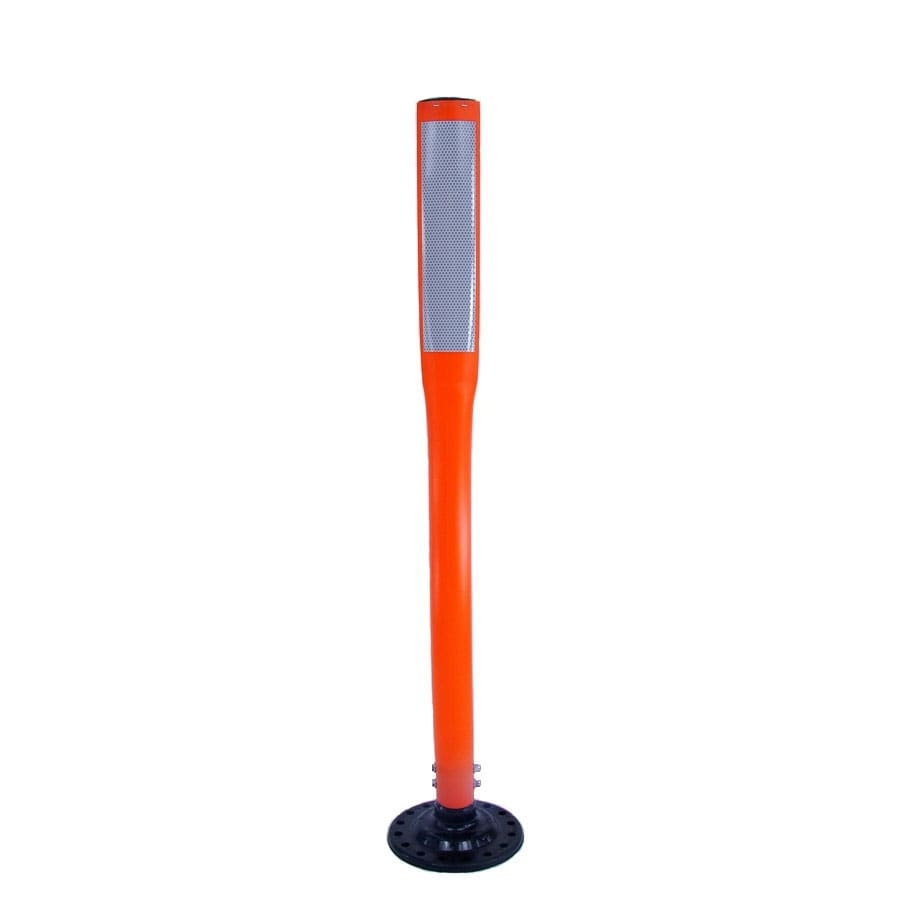 Three D Traffic Works 42-in Flat Boomerang Traffic Orange Post and Base