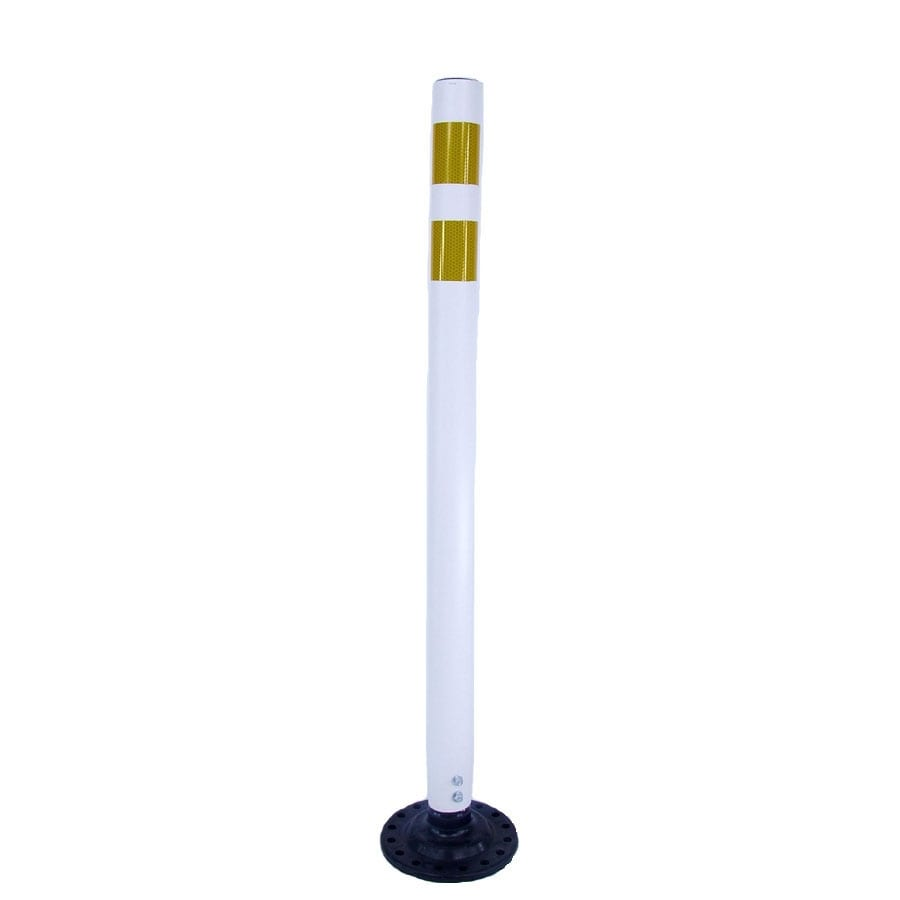 Three D Traffic Works 42-in Round Boomerang Traffic White Post and Base