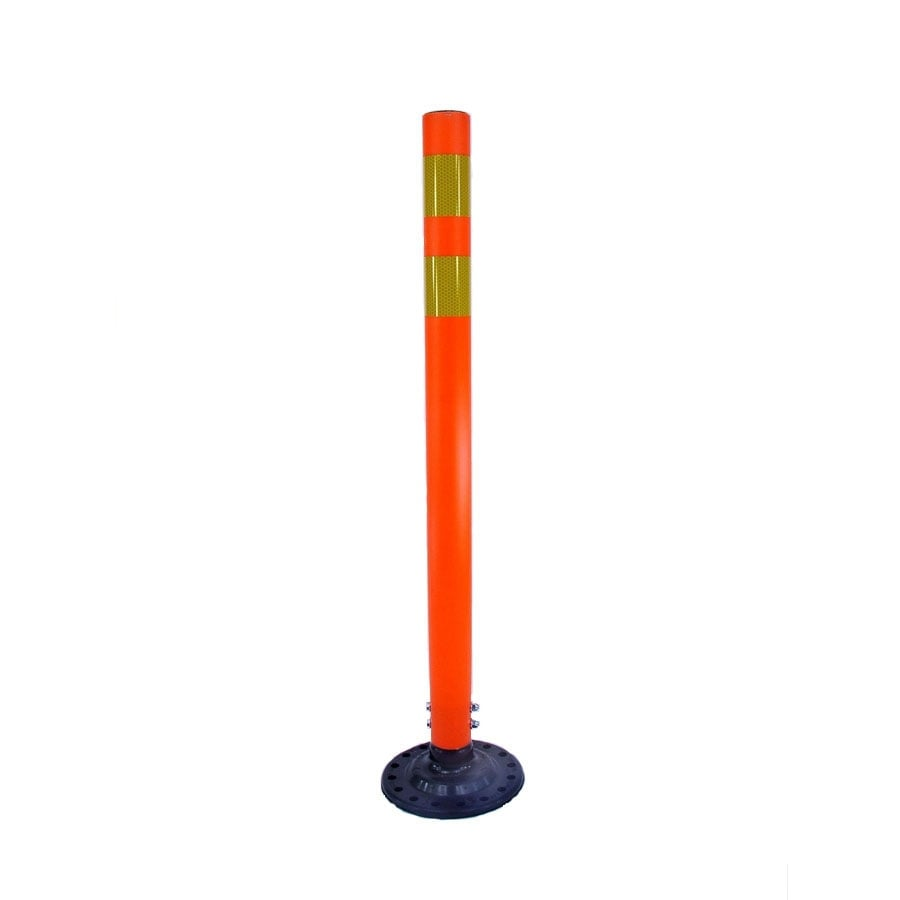 Three D Traffic Works 36-in Round Boomerang Traffic Orange Post and Base