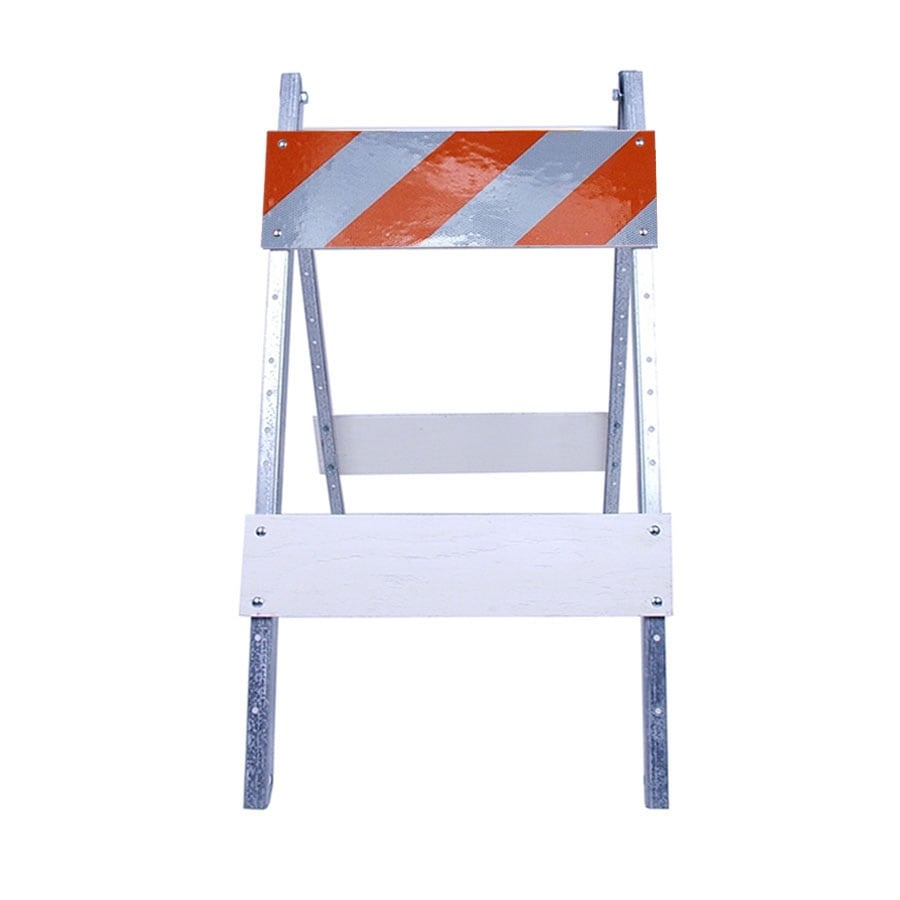 Three D Traffic Works Type I Plywood/Galvanized Steel Folding Barricade