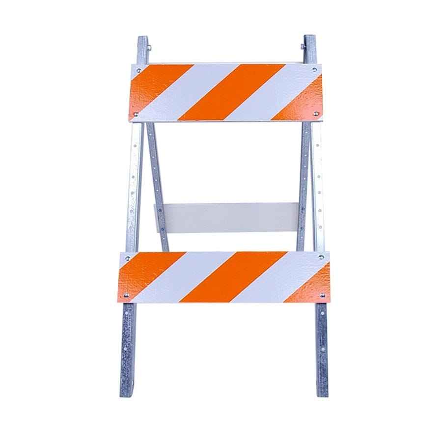 Three D Traffic Works Type II Plywood/Galvanized Steel Folding Barricade