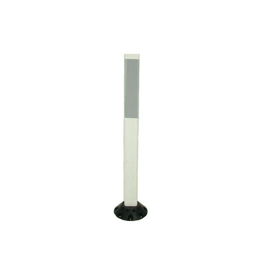 Three D Traffic Works 36-in Post Workzone White Post and Base