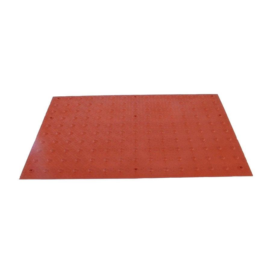Three D Traffic Works 2-ft x 3-ft Clay Red Detectable Warning Tile