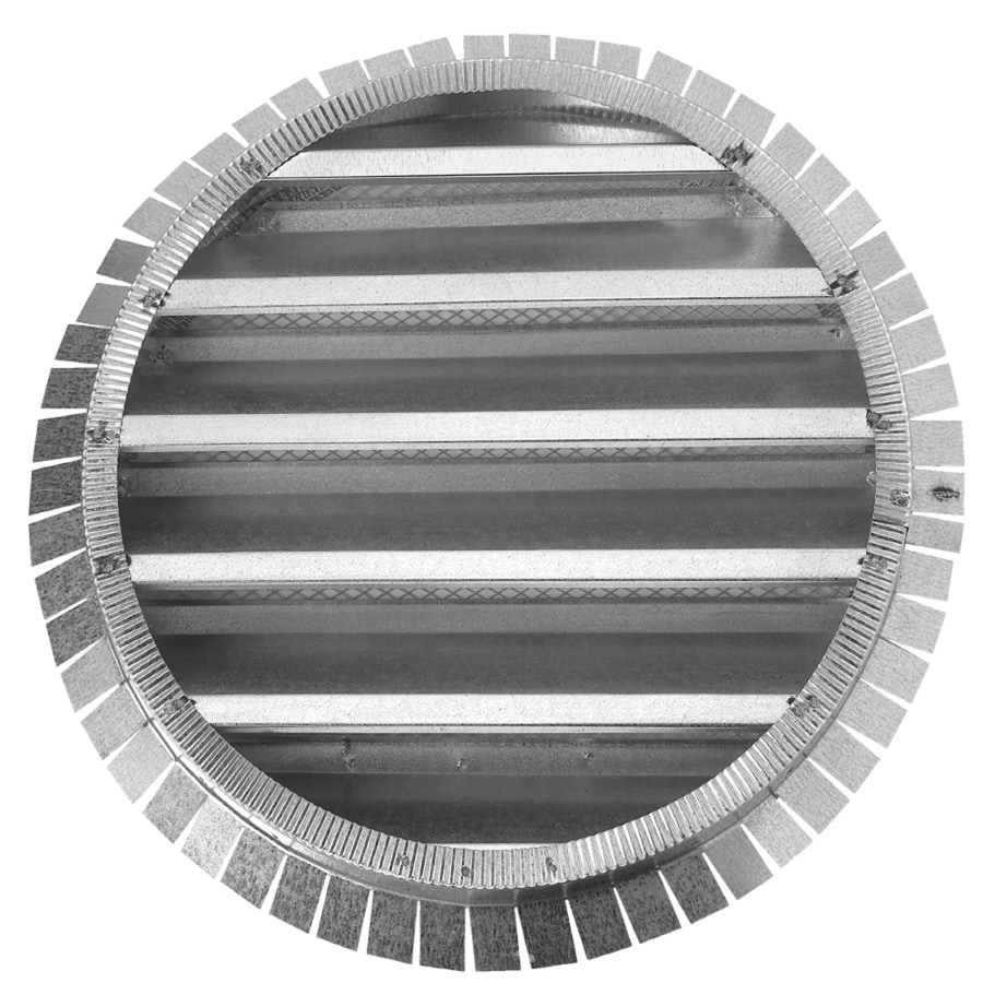 CMI 18.25-in x 18.25-in Silver Round Steel Gable Vent
