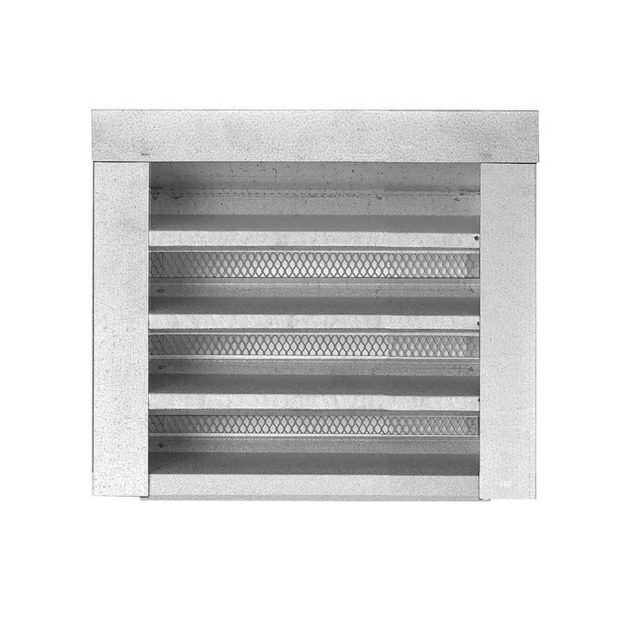 CMI 12.25-in x 12.25-in Silver Rectangle Steel Gable Vent
