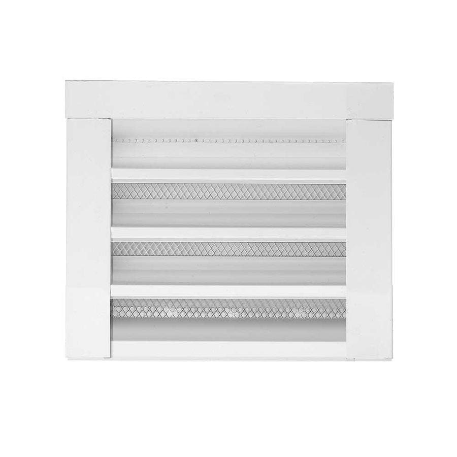 CMI 12.25-in x 12.25-in White Rectangle Steel Gable Vent
