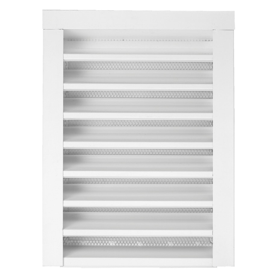 Construction Metals Inc. 14-in x 24-in White Rectangle Steel Gable Vent