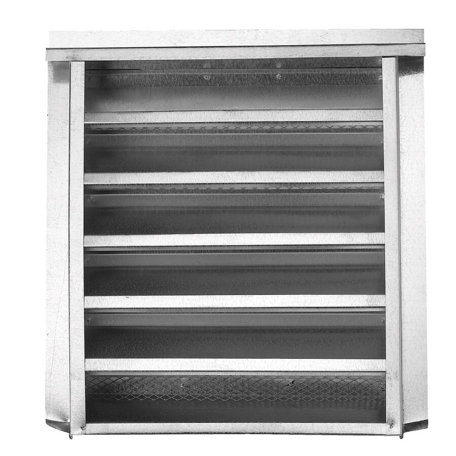 CMI 12.25-in x 18.25-in Silver Rectangle Steel Gable Vent
