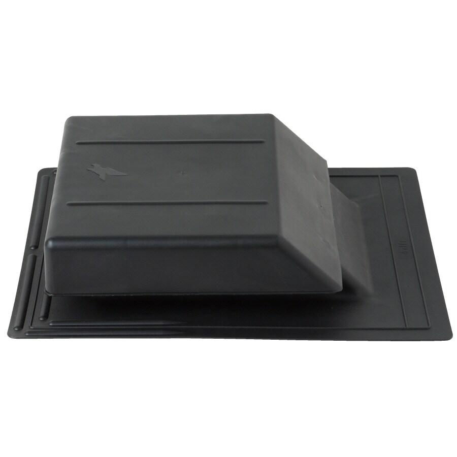 CMI Black Plastic Slant-Back Roof Louver
