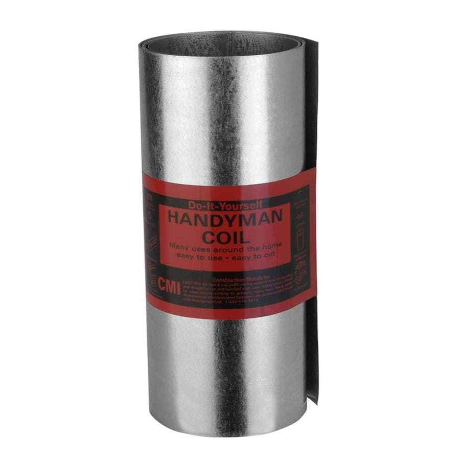 Construction Metals Inc. 5-in x 5-ft Galvanized Steel Roll Flashing