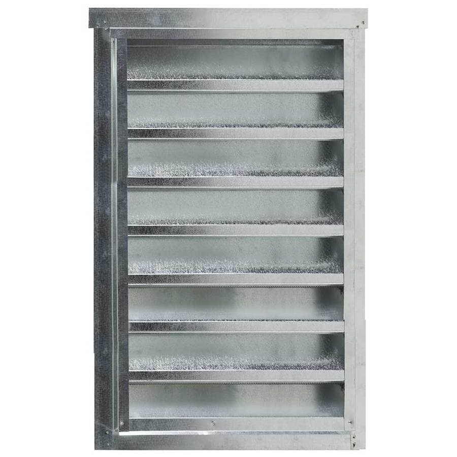 CMI 14.25-in x 24.25-in Silver Rectangle Steel Gable Vent