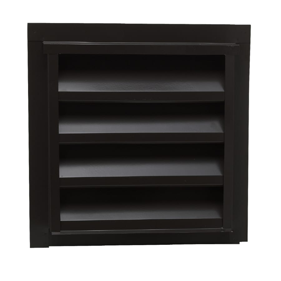 CMI 14.25-in x 24.25-in Brown Rectangle Steel Gable Vent