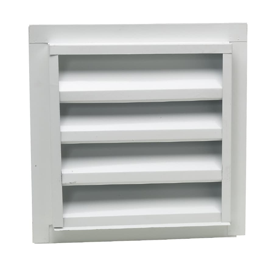 CMI 12-in x 12-in White Rectangle Steel Gable Vent