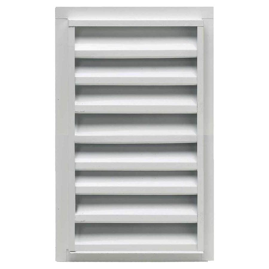CMI 14-in x 24-in White Rectangle Steel Gable Vent