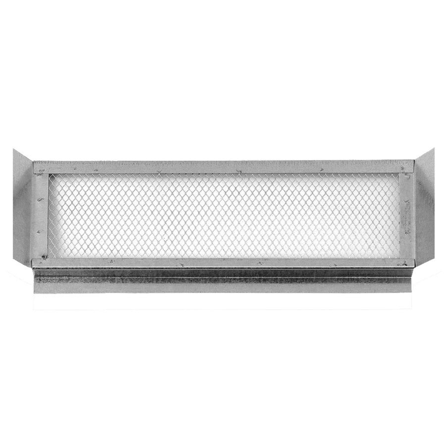 Shop Cmi 22 25 In L Silver Galvanized Steel Soffit Vent At