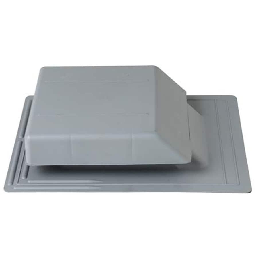 CMI Gray Plastic Slant-Back Roof Louver
