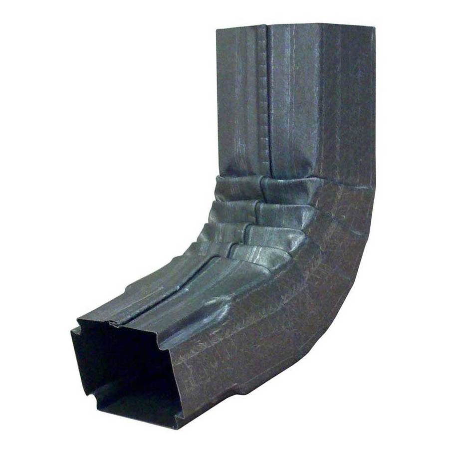6-in Silver Metal Downspout Extension