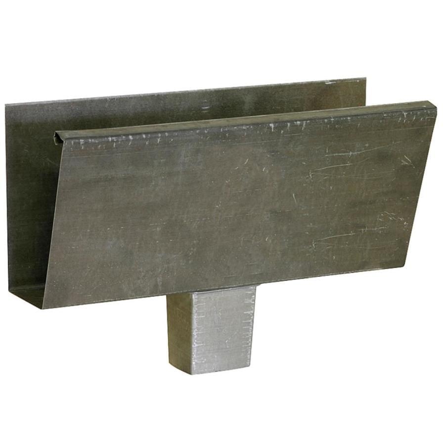 Metal K Style Left Gutter End Cap