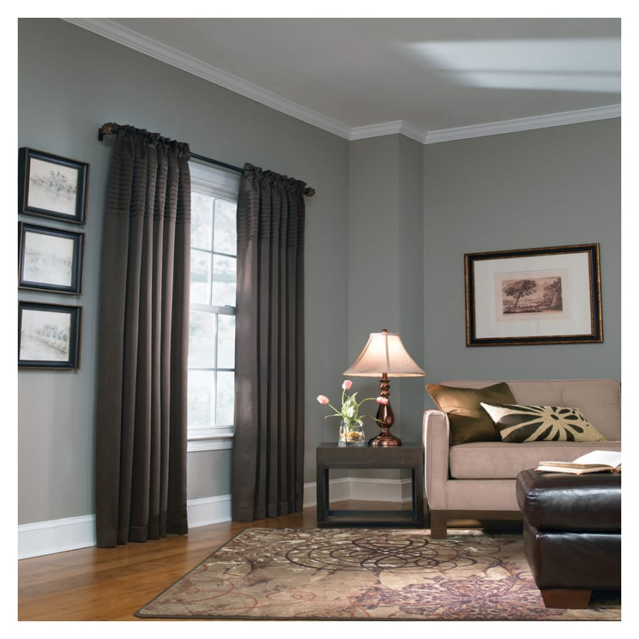allen + roth Lincolnshire 84-in L Solid Chocolate Rod Pocket Curtain Panel