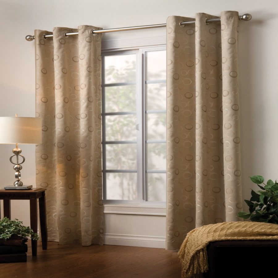 Style Selections Eton 84-in L Oyster Grommet Curtain Panel