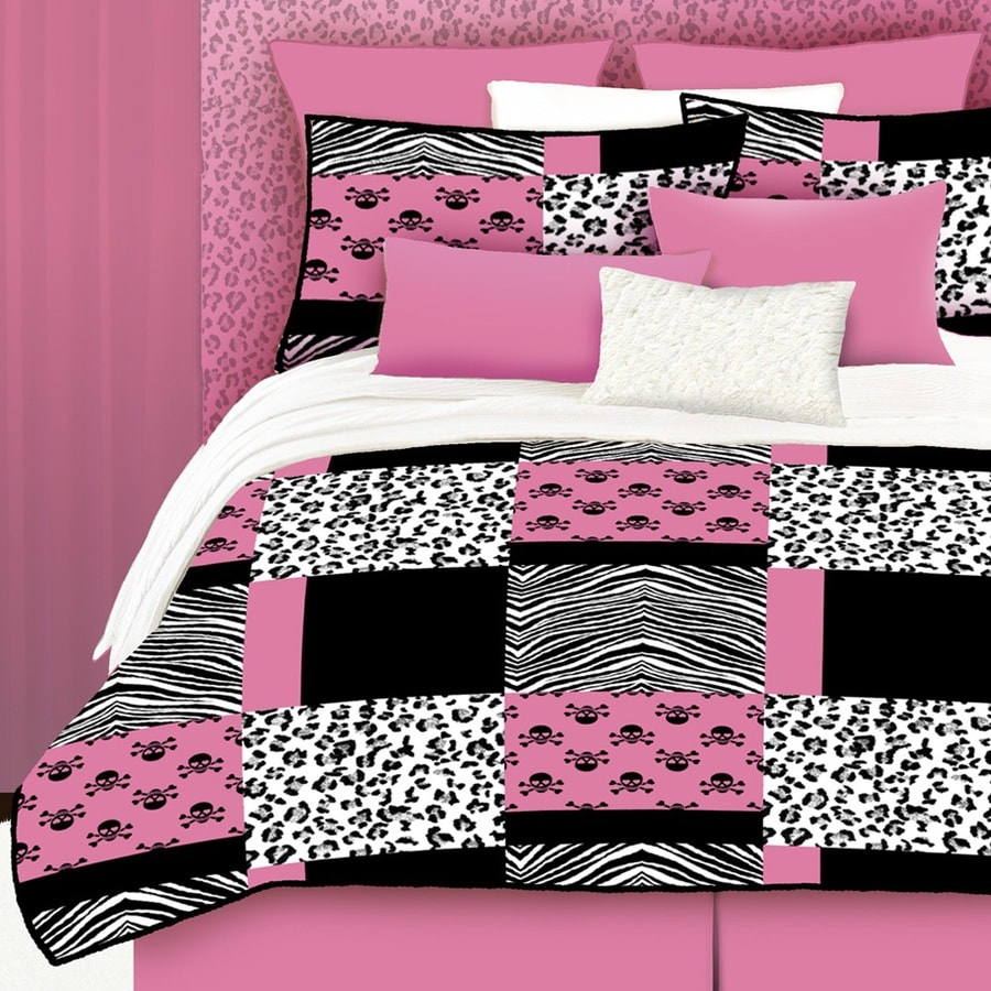 standard bedding pink set surfboard w dp com girl kitchen surfer comforter one hot twin sham home amazon