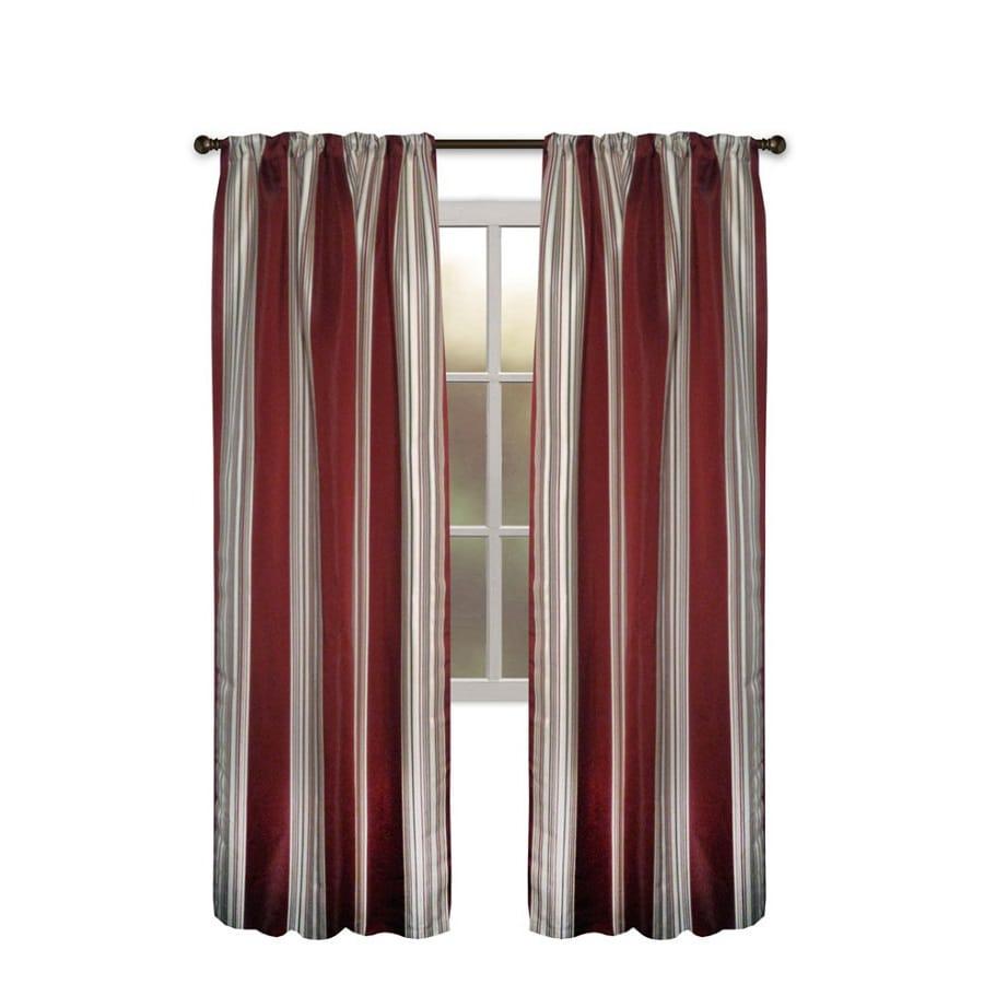 allen + roth Northfield 95-in Crimson Polyester Rod Pocket Single Curtain Panel