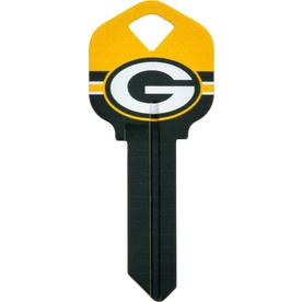 971e7254f85 Hillman Green Bay Packers Brass House Entry Key Blank
