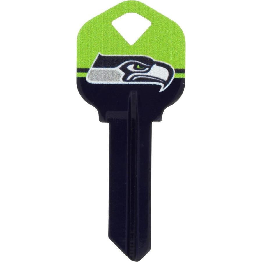 Shop Hillman Seattle Seahawks Brass House Entry Key Blank