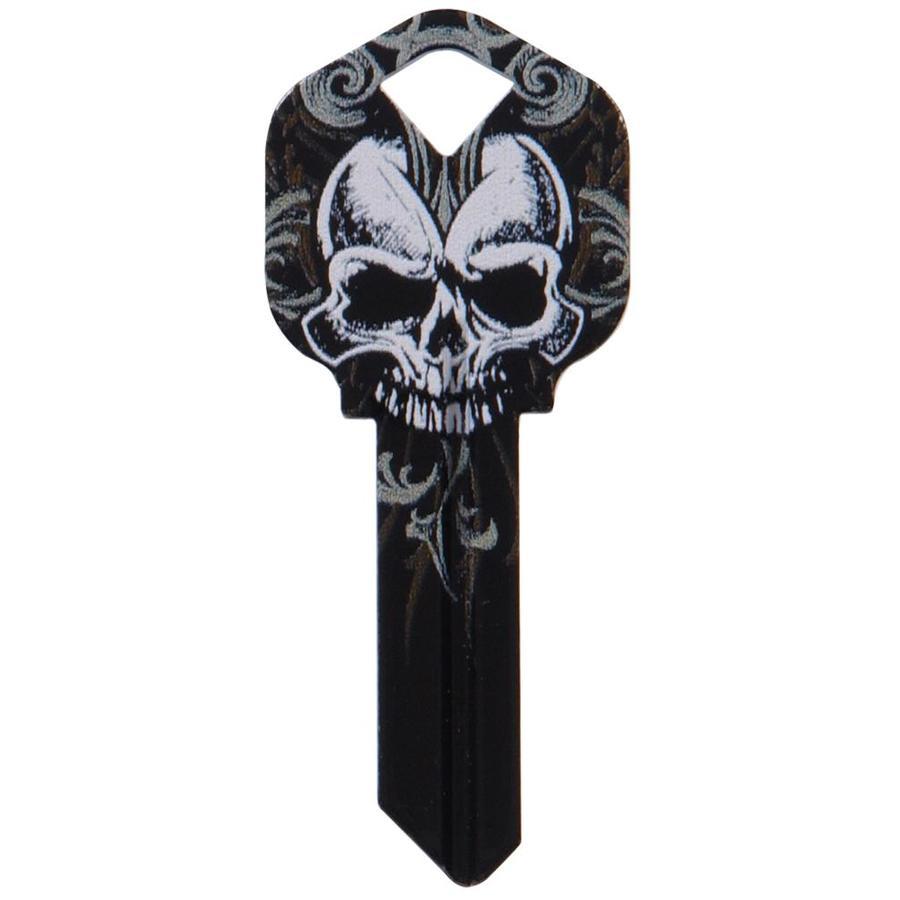 Hillman #66 Wackey Black Skull Key Blank