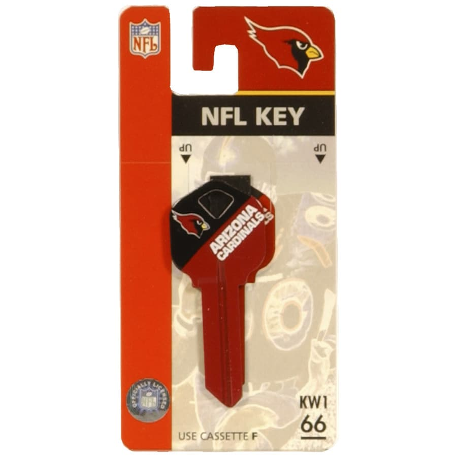 Hillman Arizona Cardinals Brass House/Entry Key Blank