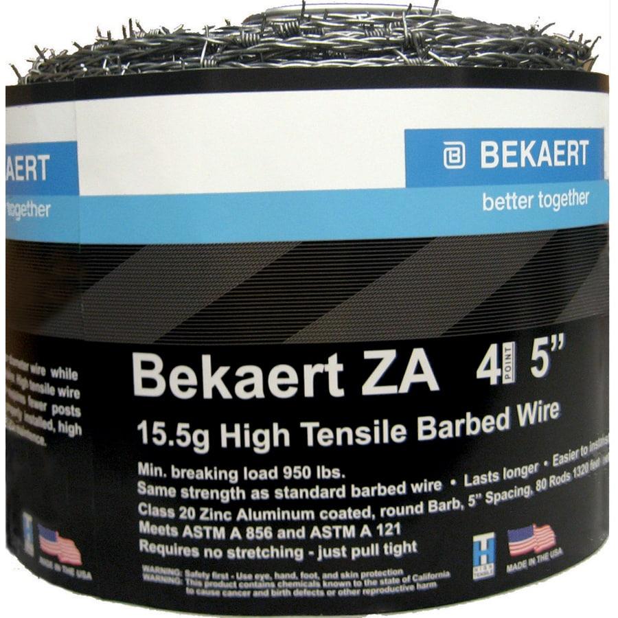 "Bekaert ZA 15.5g 4 Point 5"" Barb Spacing High Tensile Barbed Wire"