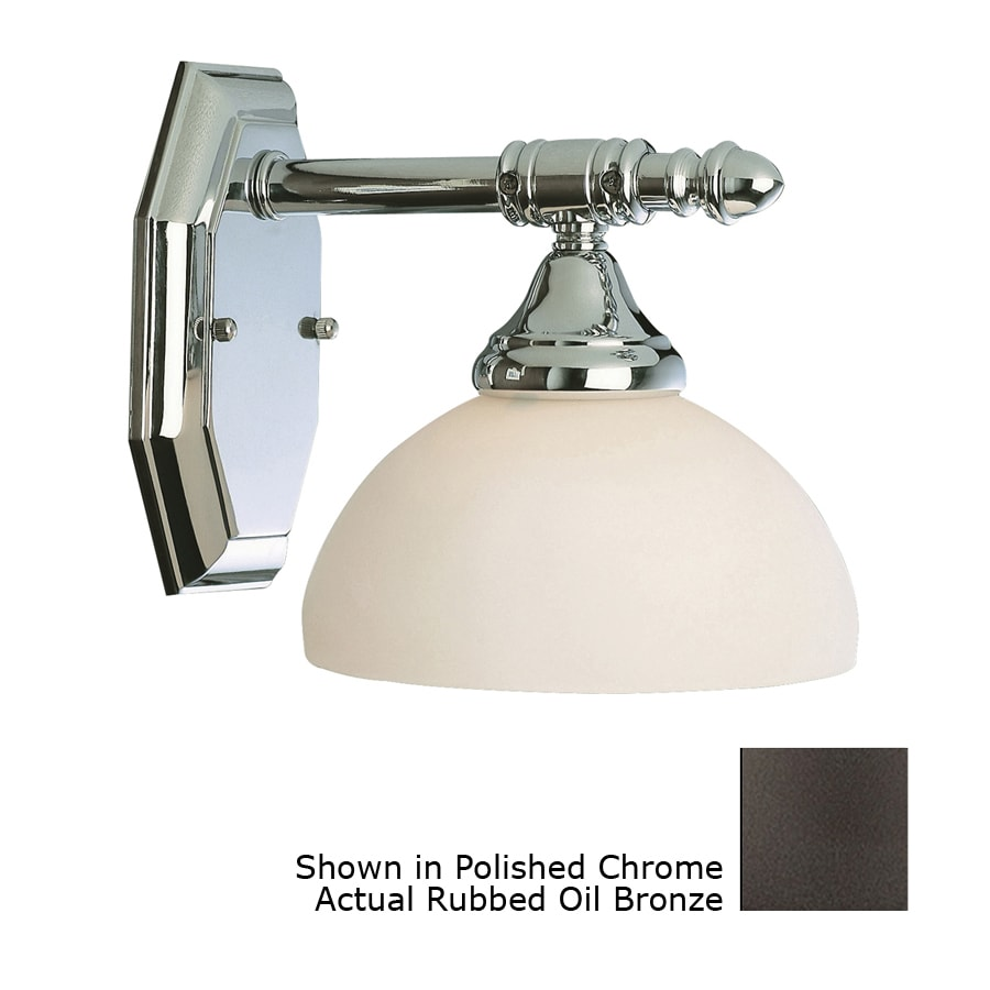 Bel Air Lighting 5.5-in W 1-Light Oil Rubbed Bronze Arm Hardwired Wall Sconce