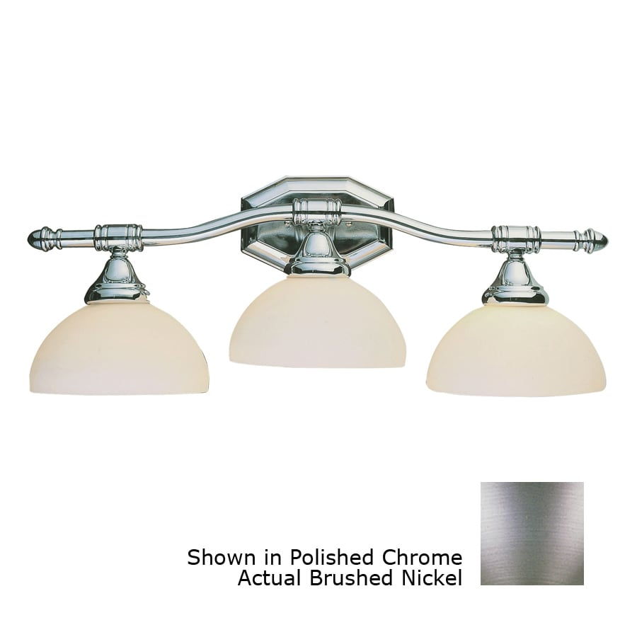 Bel Air Lighting 3 Light Brushed Nickel Bathroom Vanity Light