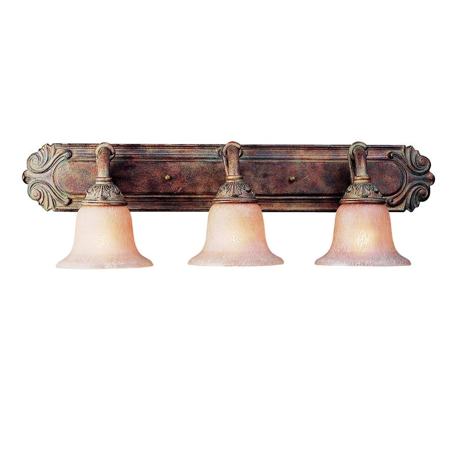 Bathroom Lighting Edmonton shop bel air lighting 3-light rustic bronze bathroom vanity light