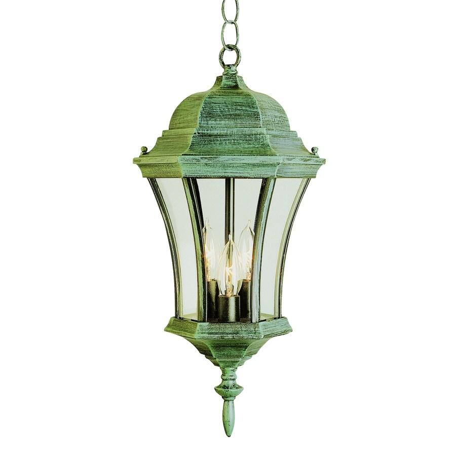 Portfolio 19.5-in H Verde Green Outdoor Pendant Light At