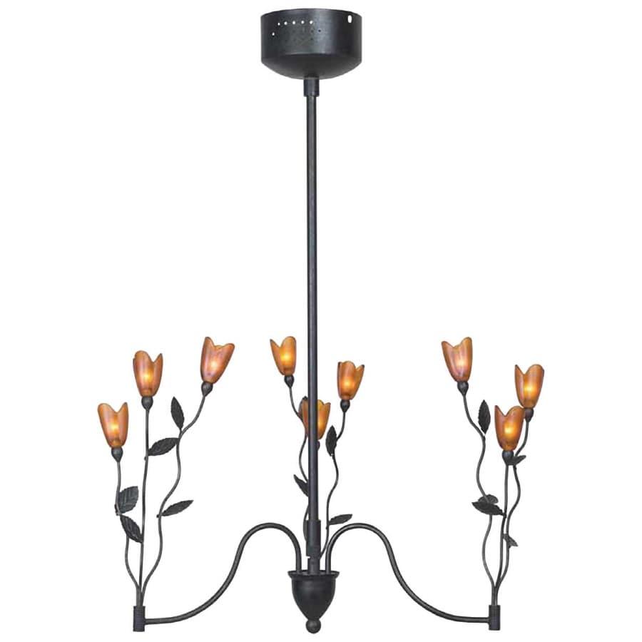 Bel Air Lighting 9 Light Black Chandelier