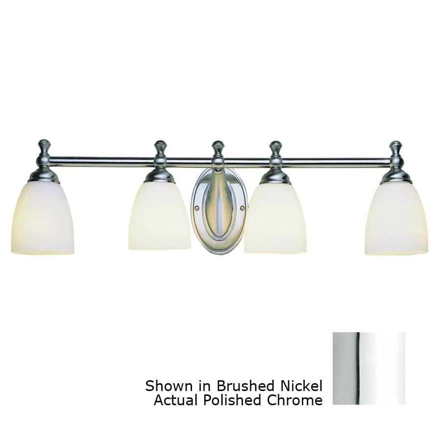 Bel Air Lighting 4-Light Polished Chrome Bathroom Vanity Light