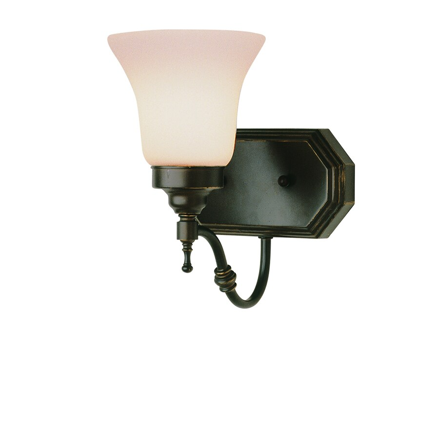 Bel Air Lighting 7-in W 1-Light Oil Rubbed Bronze Arm Hardwired Wall Sconce