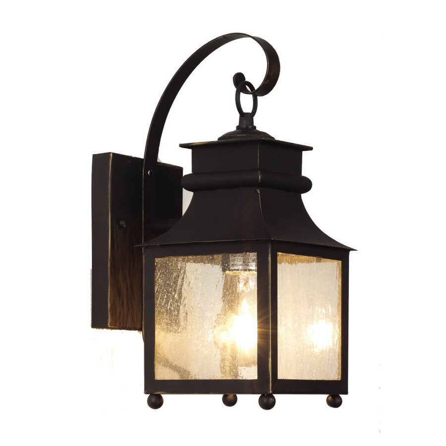 Bel Air Lighting 14-in H Weathered Bronze Outdoor Wall Light